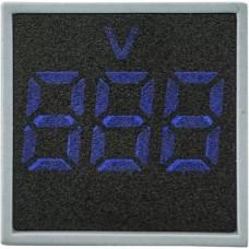 Квадратний цифровий вимірювач напруги ED16-22FVD 30-500В АС (синій)