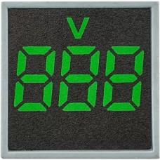 Квадратний цифровий вимірювач напруги ED16-22FVD 30-500В АС (зелений)