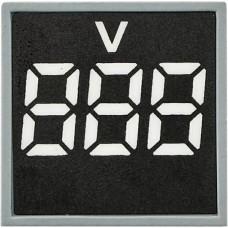 Квадратний цифровий вимірювач напруги ED16-22FVD 30-500В АС (білий)