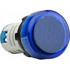 Круглий цифровий вимірювач напруги ED16-22VD 30-500В АС (синій)