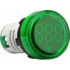 Круглий цифровий вимірювач напруги ED16-22VD 30-500В АС (зелений)