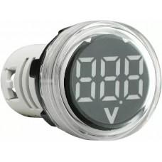 Круглий цифровий вимірювач напруги ED16-22VD 30-500В АС (білий)