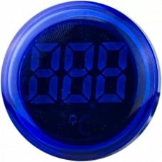 Круглий цифровий вимірювач температури ED16-22WD  -25С - 150С (синій)