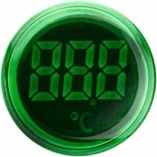 Круглий цифровий вимірювач температури ED16-22WD  -25С - 150С (зелений)