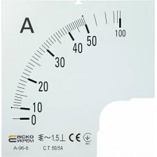 Шкала 50/5А до амперметра А-96-6