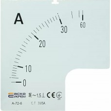 Шкала 30/5А до амперметра А-72-6