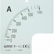 Шкала 500/5А до амперметра А-72-6