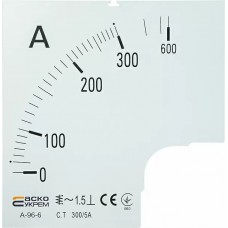 Шкала 300/5А до амперметра А-96-6