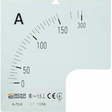 Шкала 150/5А до амперметра А-72-6