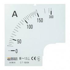 Шкала 150/5А до амперметра А-96-6