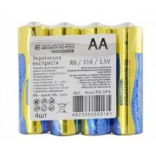 Батарейка сольова AА.R6.SP4 (shrink 4)