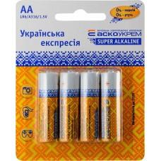 Батарейка лужна AА.LR6.BP4 (blister 4)