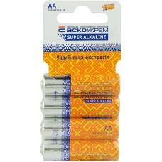 Батарейка лужна AА.LR6.SC4 (shrink card 4)