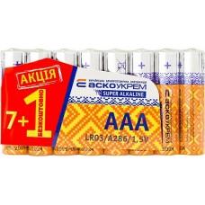 Батарейка лужна AАА.LR03 АКЦІЯ  (shrink 7+1)