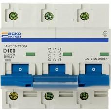 Автоматичний вимикач УКРЕМ ВА-2003 3р 100А АСКО