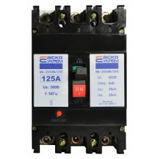 Автоматичний вимикач УКРЕМ ВА-2004N/250 3р 125А АСКО