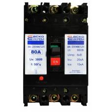 Автоматичний вимикач УКРЕМ ВА-2004N/125 3р 80А АСКО