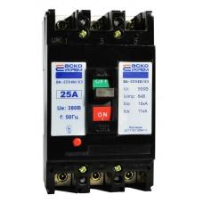 Автоматичний вимикач УКРЕМ ВА-2004N/63 3р 25А АСКО