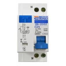 Диференційний вимикач ДВ-2002 25А 30мА АСКО