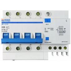 Диференційний вимикач ДВ-2006 4p 25А 30мА АСКО