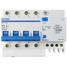 Диференційний вимикач ДВ-2006 4p 63А 30мА АСКО
