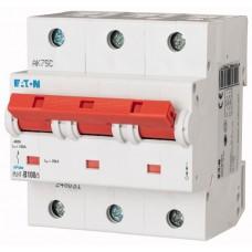 Автоматичний вимикач PLHT-C100/3 100А, крива відключення С, 3 полюси Eaton