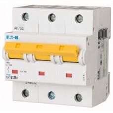 Автоматичний вимикач  PLHT-C125/3 125А, крива відключення С, 3 полюси Eaton