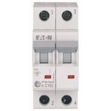 Автоматичний вимикач   HL-C10/2 10А, крива відключення С, 2 полюси Eaton