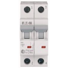 Автоматичний вимикач   HL-C16/2 16А, крива відключення С, 2 полюси Eaton