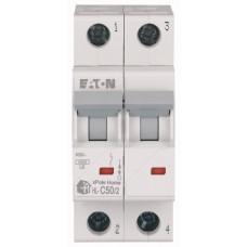 Автоматичний вимикач HL-C50/2 50А, крива відключення С, 2 полюси Eaton
