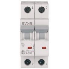 Автоматичний вимикач   HL-C6/2 6А, крива відключення С, 2 полюса Eaton