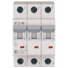 Автоматичний вимикач HL-C6/3 6А, крива відключення С, 3 полюси Eaton