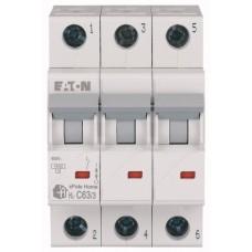 Автоматичний вимикач HL-C63/3 63А, крива відключення С, 3 полюси Eaton