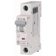 Автоматичний вимикач  HL-C20/1 20А, крива відключення С, 1 полюс Eaton
