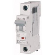 Автоматичний вимикач  HL-C25/1 25А, крива відключення С, 1 полюс Eaton