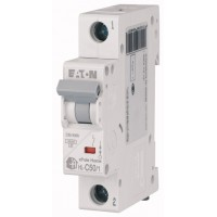 Автоматичний вимикач  HL-C50/1 50А, крива відключення С, 1 полюс Eaton