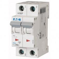 Автоматичний вимикач  PL6-C16/2 16А, крива відключення С, 2 полюси Eaton