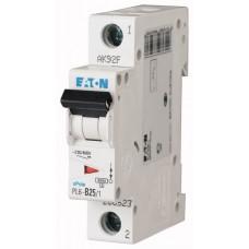 Автоматичний вимикач PL6-C25/1 25А, крива відключення С, 1 полюс Eaton