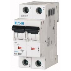 Автоматичний вимикач  PL6-C40/2 40А, крива відключення С, 2 полюси Eaton