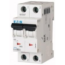 Автоматичний вимикач  PL6-C63/2 63А, крива відключення С, 2 полюси Eaton