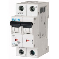 Автоматичний вимикач  PL6-C6/2 6А, крива відключення С, 2 полюси Eaton