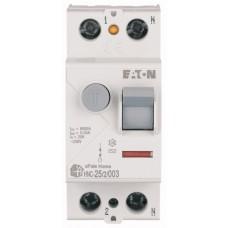 Пристрій захисного відключення Eaton  HNC-25/2/003