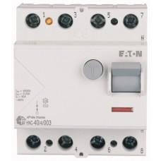 Пристрій захисного відключення Eaton  HNC-40/4/003