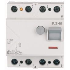 Пристрій захисного відключення Eaton HNC-63/4/003