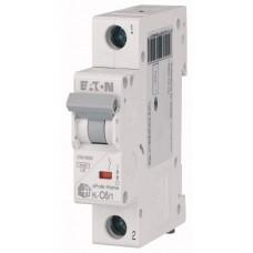 Автоматичний вимикач HL-C6/1 6А, крива відключення С, 1 полюс Eaton
